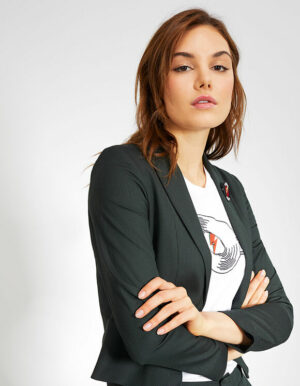 IKKS-VESTE DE COSTUME VERT PINEGREEN EN TISSU JACQUARD I_CODE-QR40094-58_1