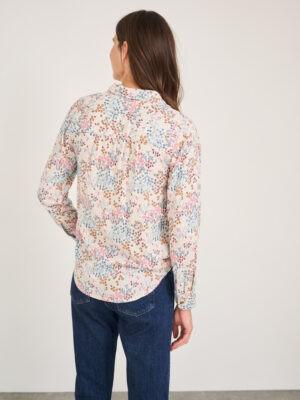 chemise motif floral ivoire white stuff