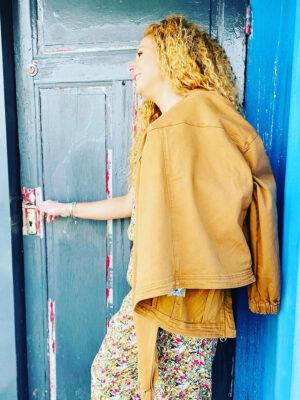 blouson camel c est beau la vie